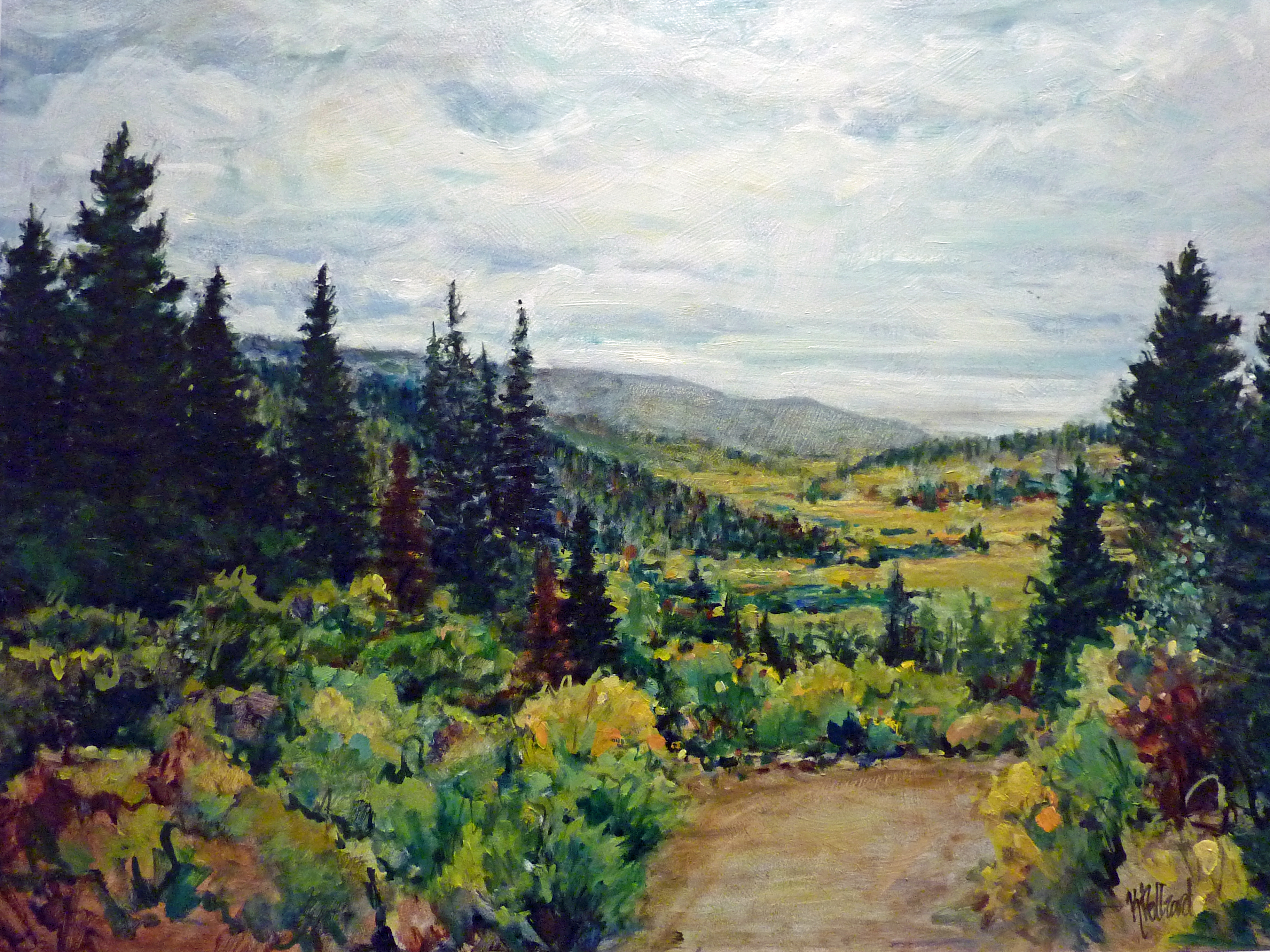 Road 1100 | Landscapes of Western Canada | Artist | Painter Kim Pollard | Canada | 100 Mile House