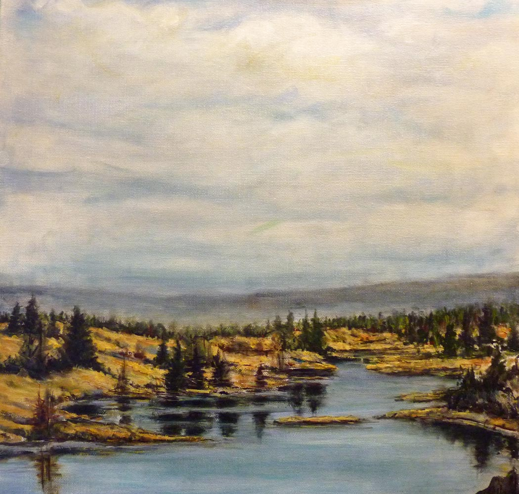130 mile marsh | Landscapes of British Columbia | Artist painter Kim Pollard | Canada | Pacific Northwest