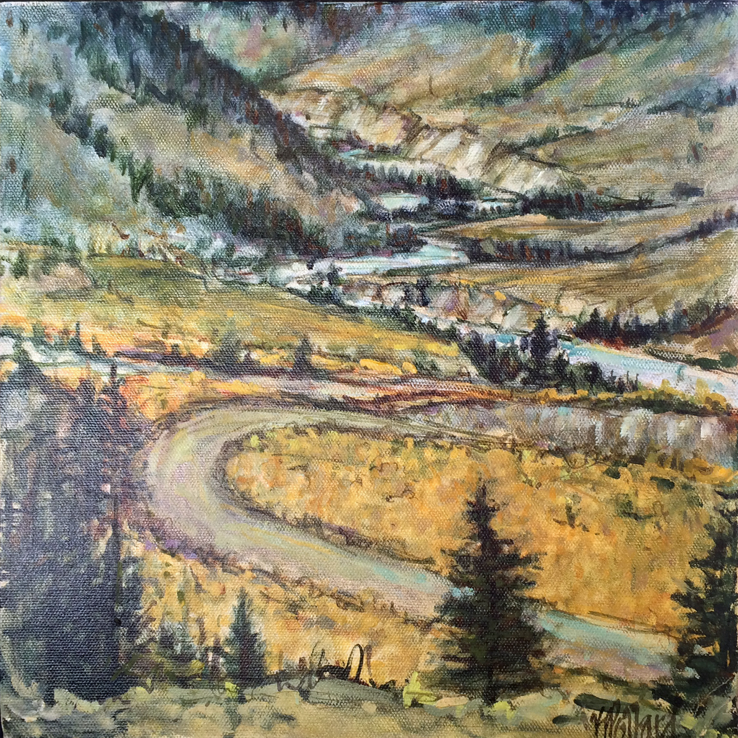 Farwell Canyon | Landscape Paintings | Kim Pollard | Canadian Artist | British Columbia | Cariboo Chilcotin
