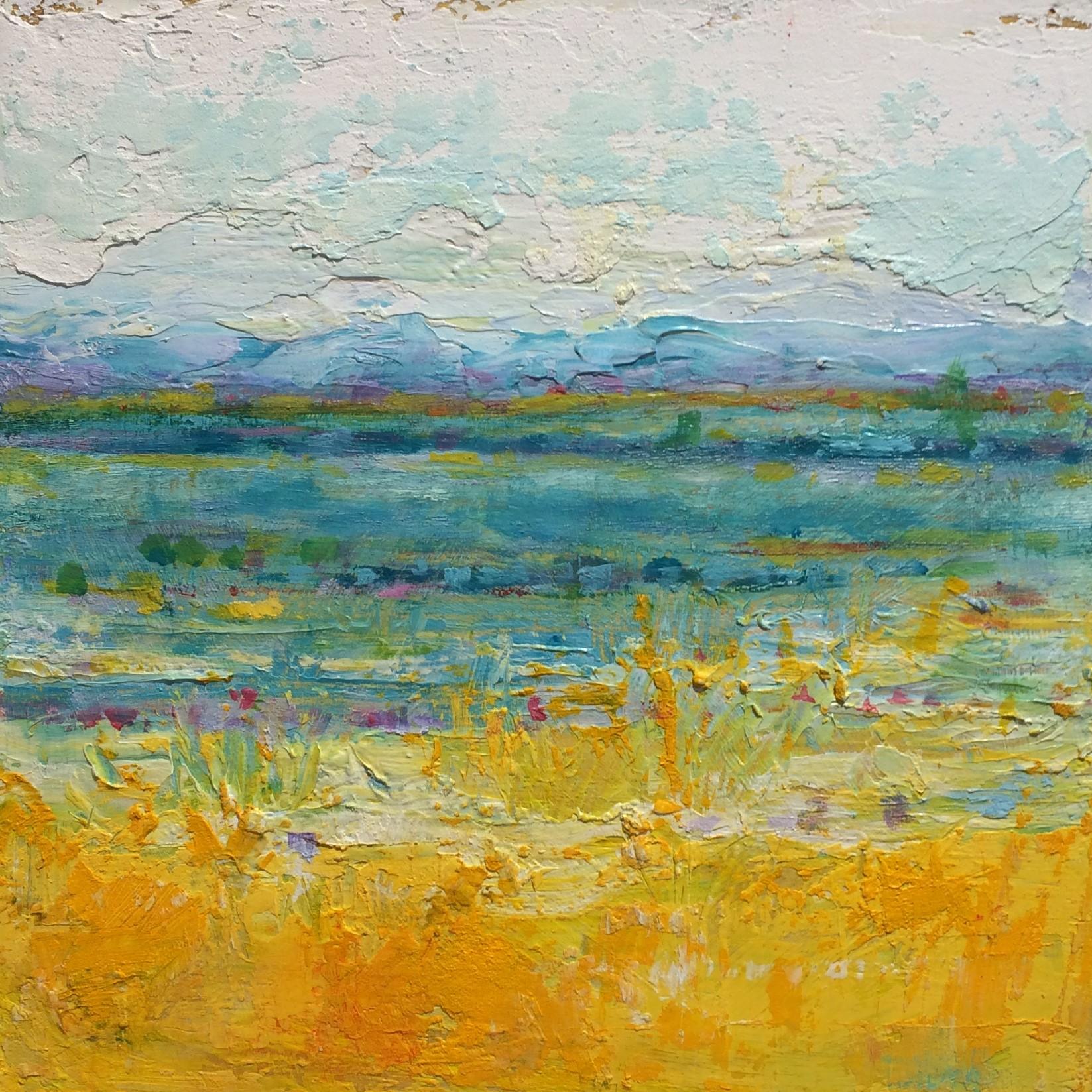 In the Distance | Visceral Landscapes | Kim Pollard | Canadian Artist | Abstract Landscape