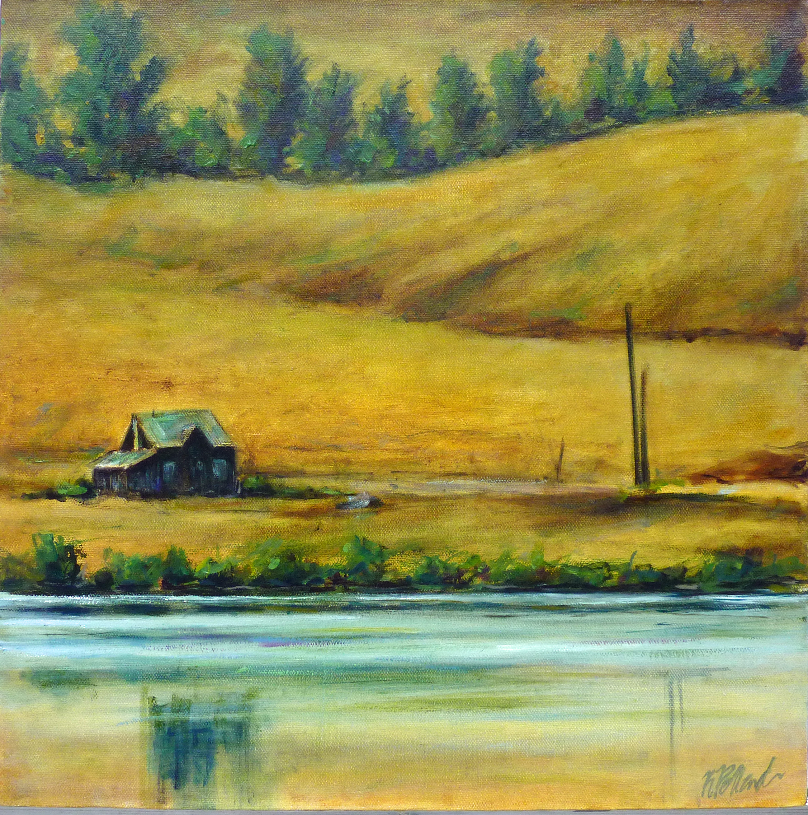 Cariboo Afternoon | Landscape Paintings | Kim Pollard | Canadian Artist | British Columbia | Douglas Lake Ranch