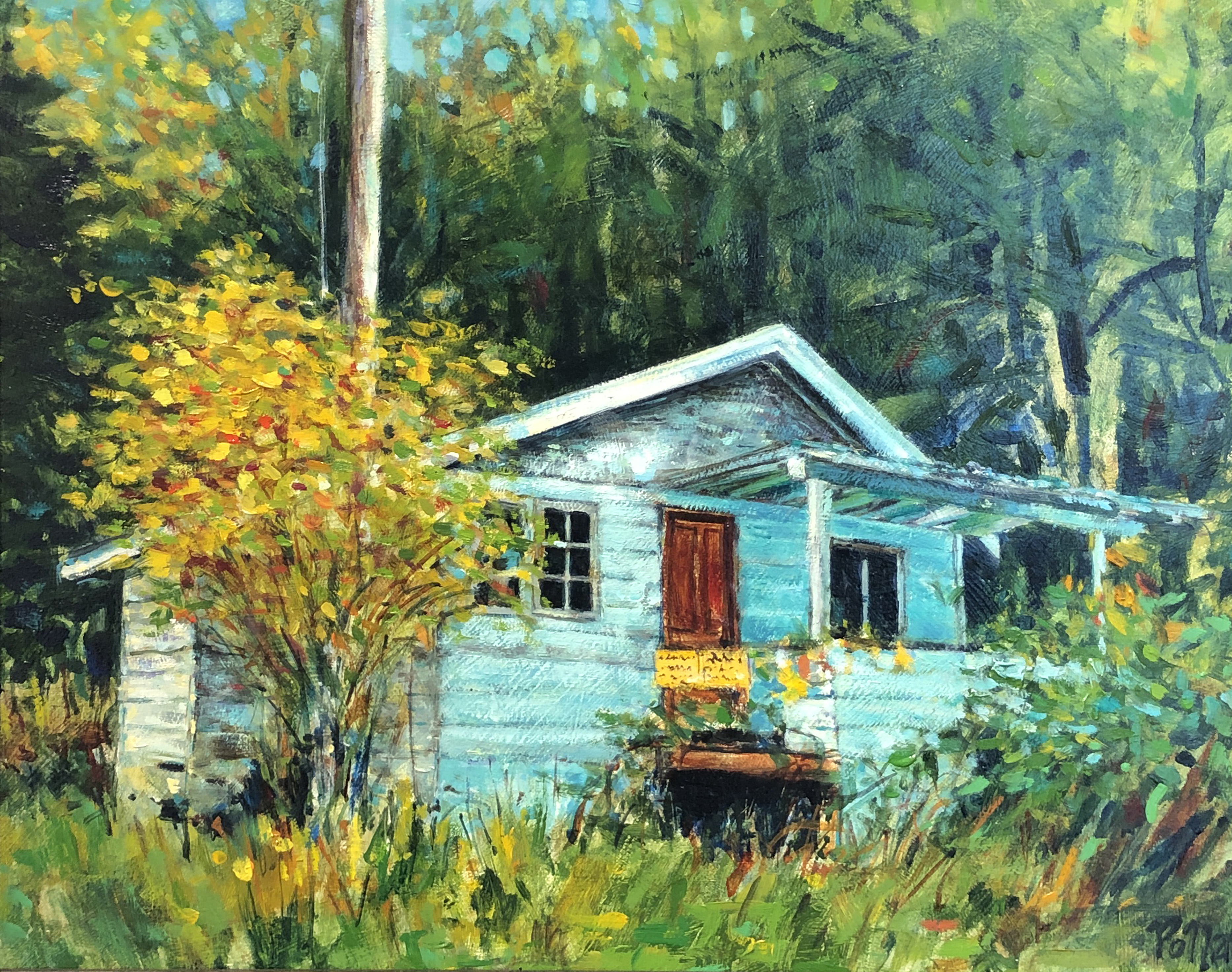 The Old House at Roesland | Landscape Painting | Pender Island | Artist Painter Kim Pollard | Canada | Roesland