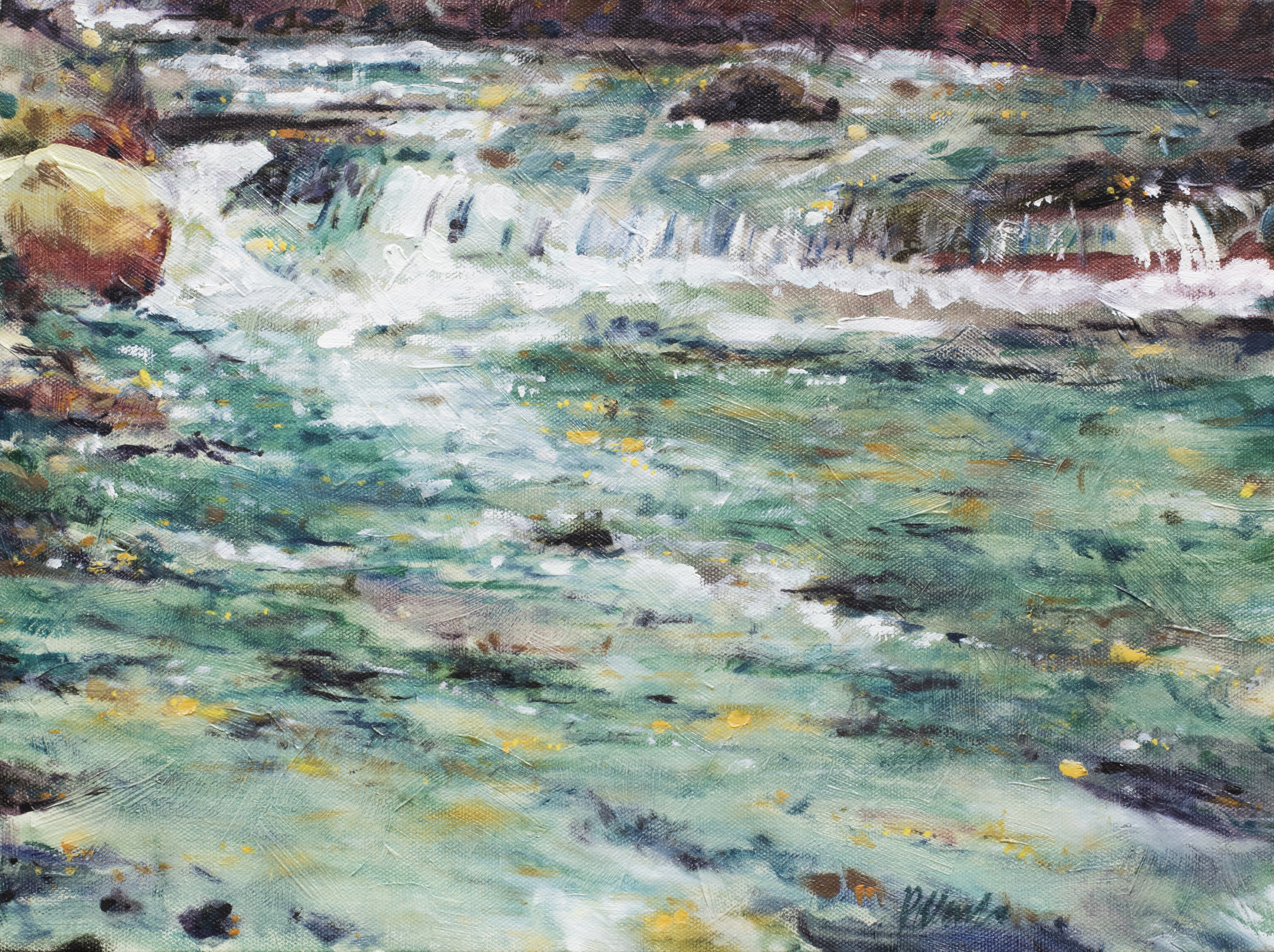 The Stream | Landscape Paintings | Kim Pollard | Canadian Artist | British Columbia | Shannon Falls