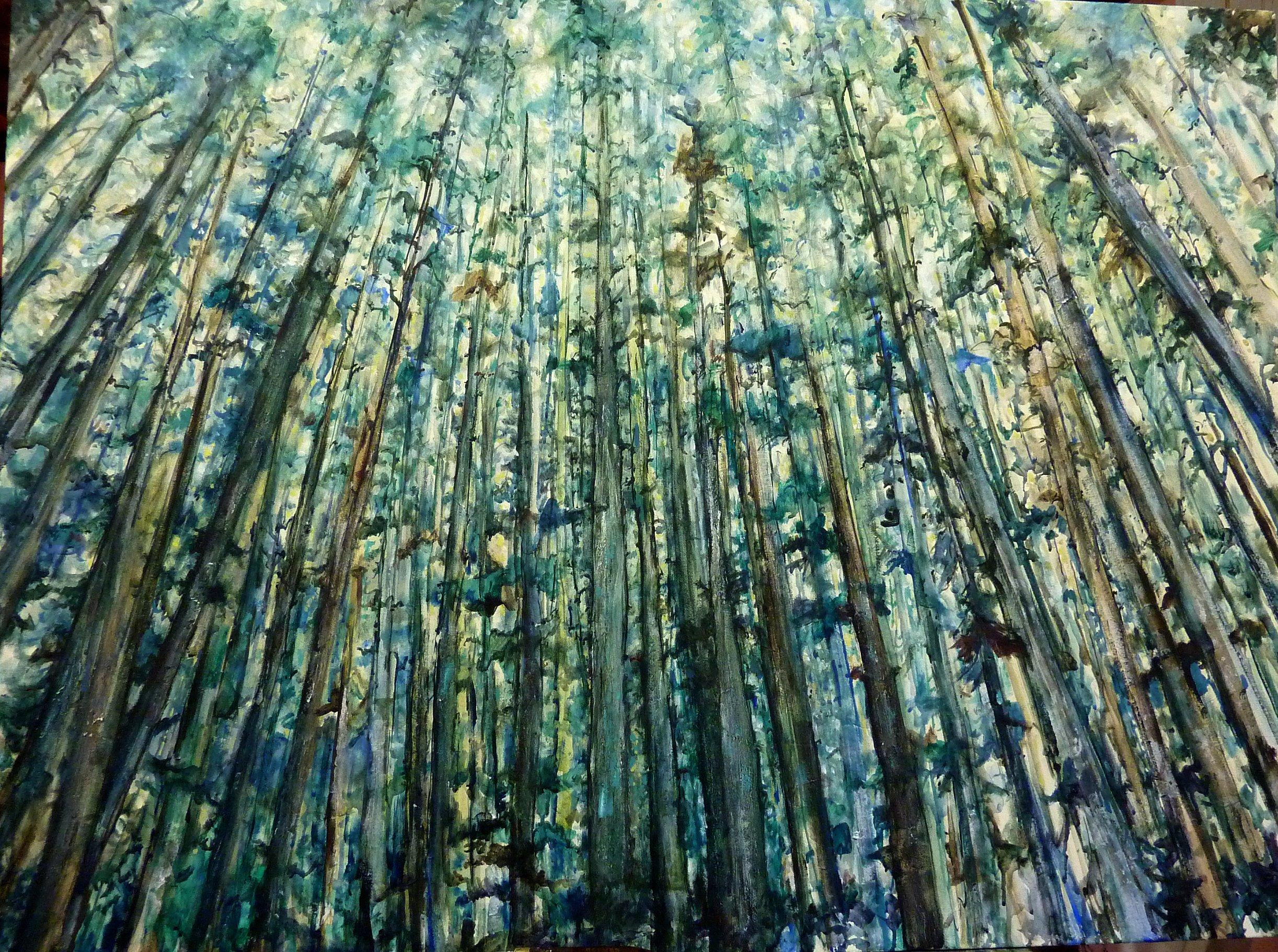 The Trees   Landscape Paintings   Kim Pollard   Canadian Artist   British Columbia   West Coast   Rainforest
