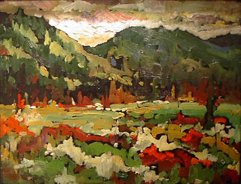 Autumn Meadow | Landscape Paintings | Kim Pollard | Canadian | Artist | British Columbia | Landscape Painting