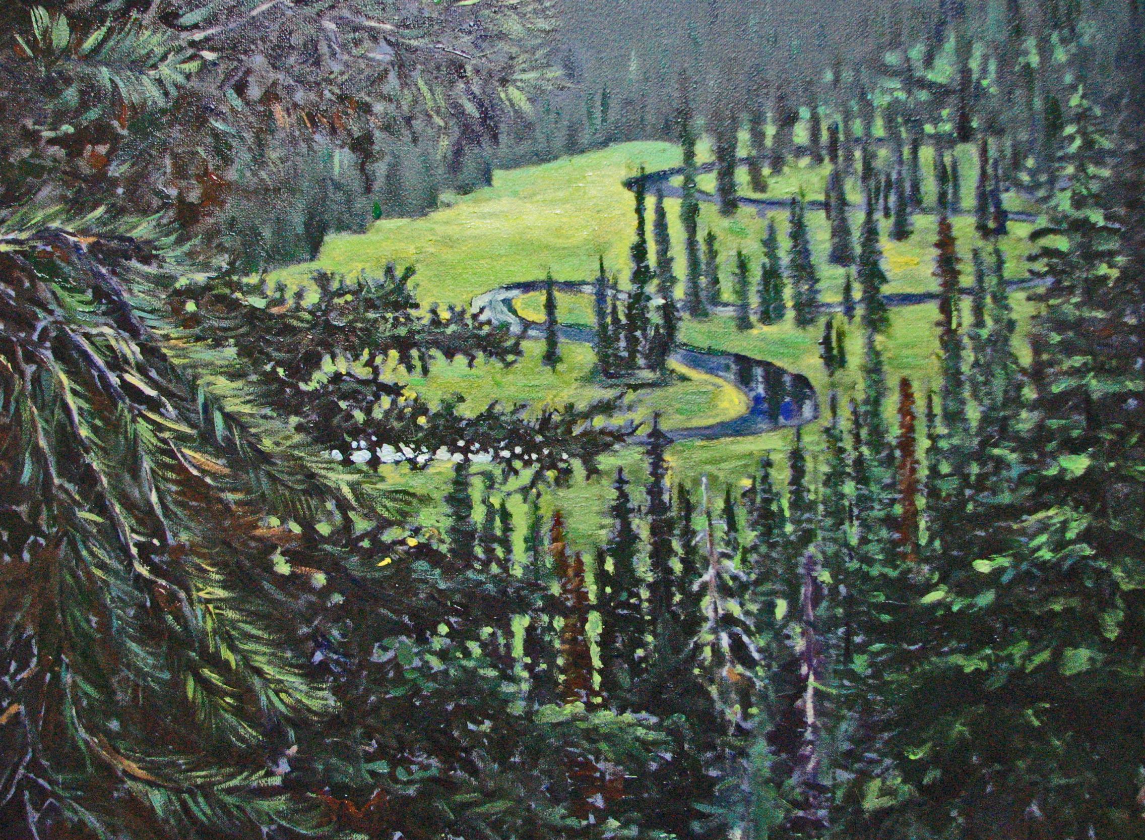 Baker Lake Meadow | Landscape Paintings | Kim Pollard | Canadian Artist | British Columbia