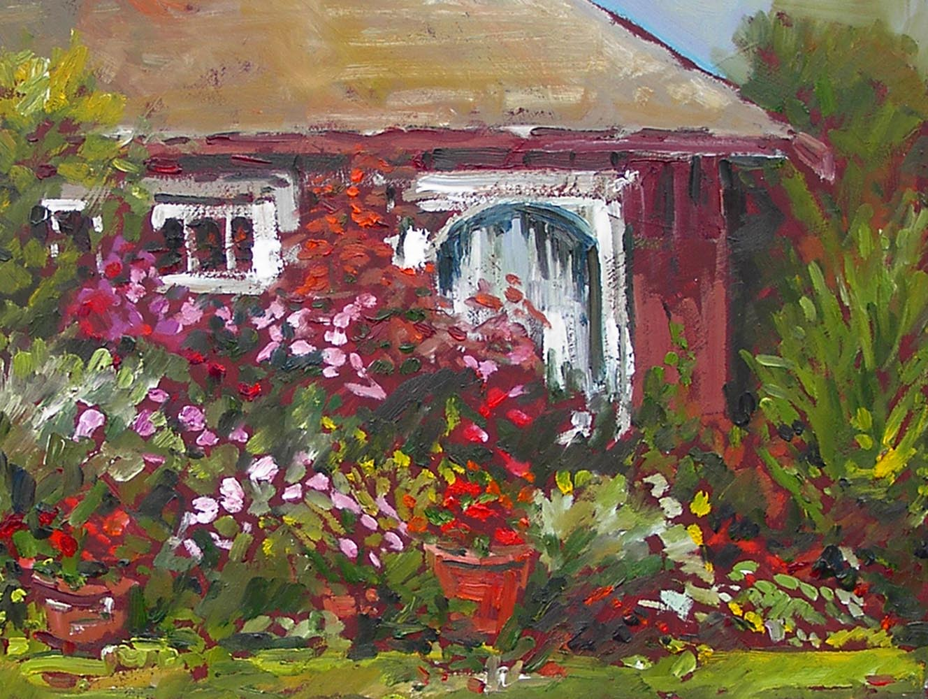beach cottage 2 | Archives | Artist painter Kim Pollard | Canada | Pacific Northwest