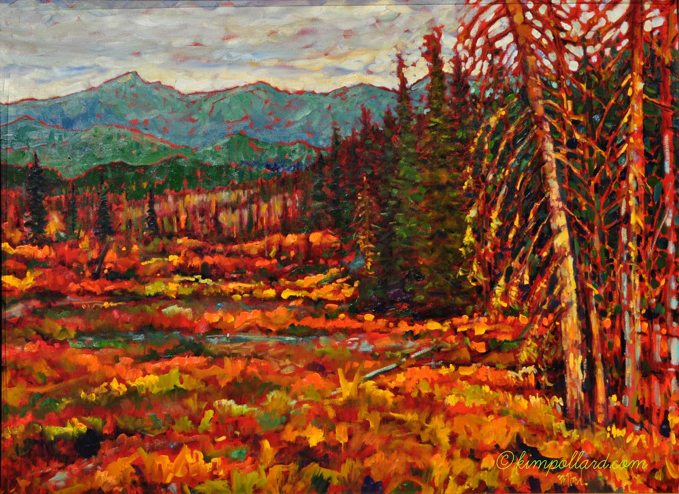 kananaskis country | Landscapes of Western Canada | Artist painter Kim Pollard | Canada | Pacific Northwest