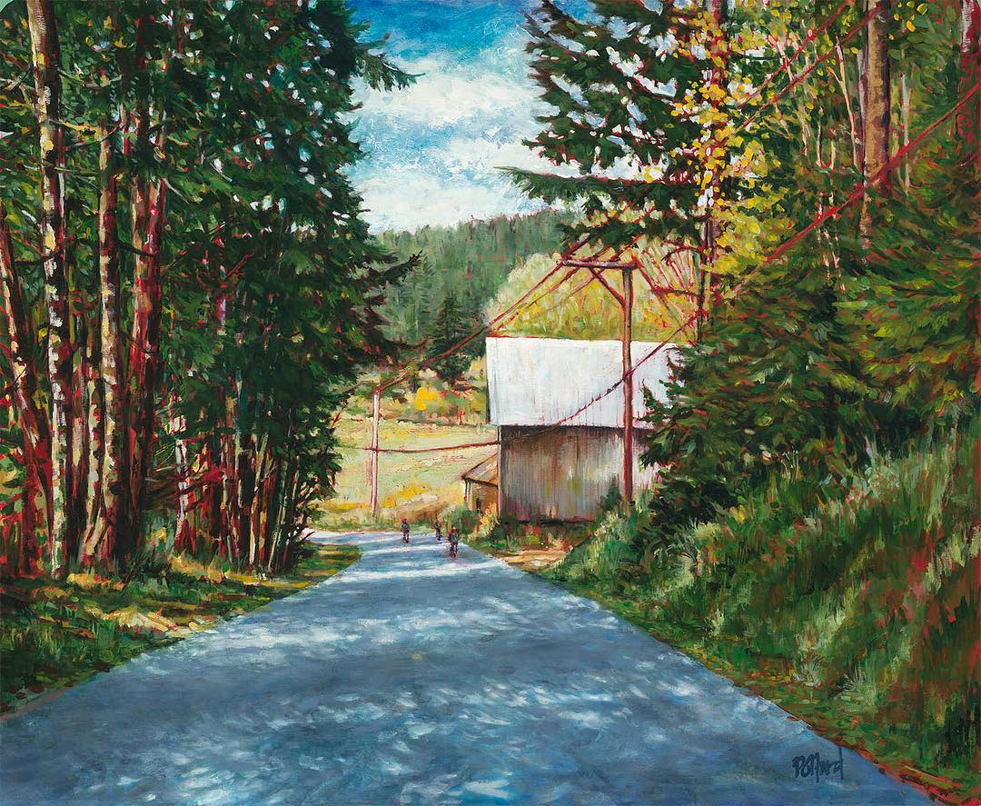 Razor Point Road | New Work | Artist painter Kim Pollard | Canada | Pender Island, BC
