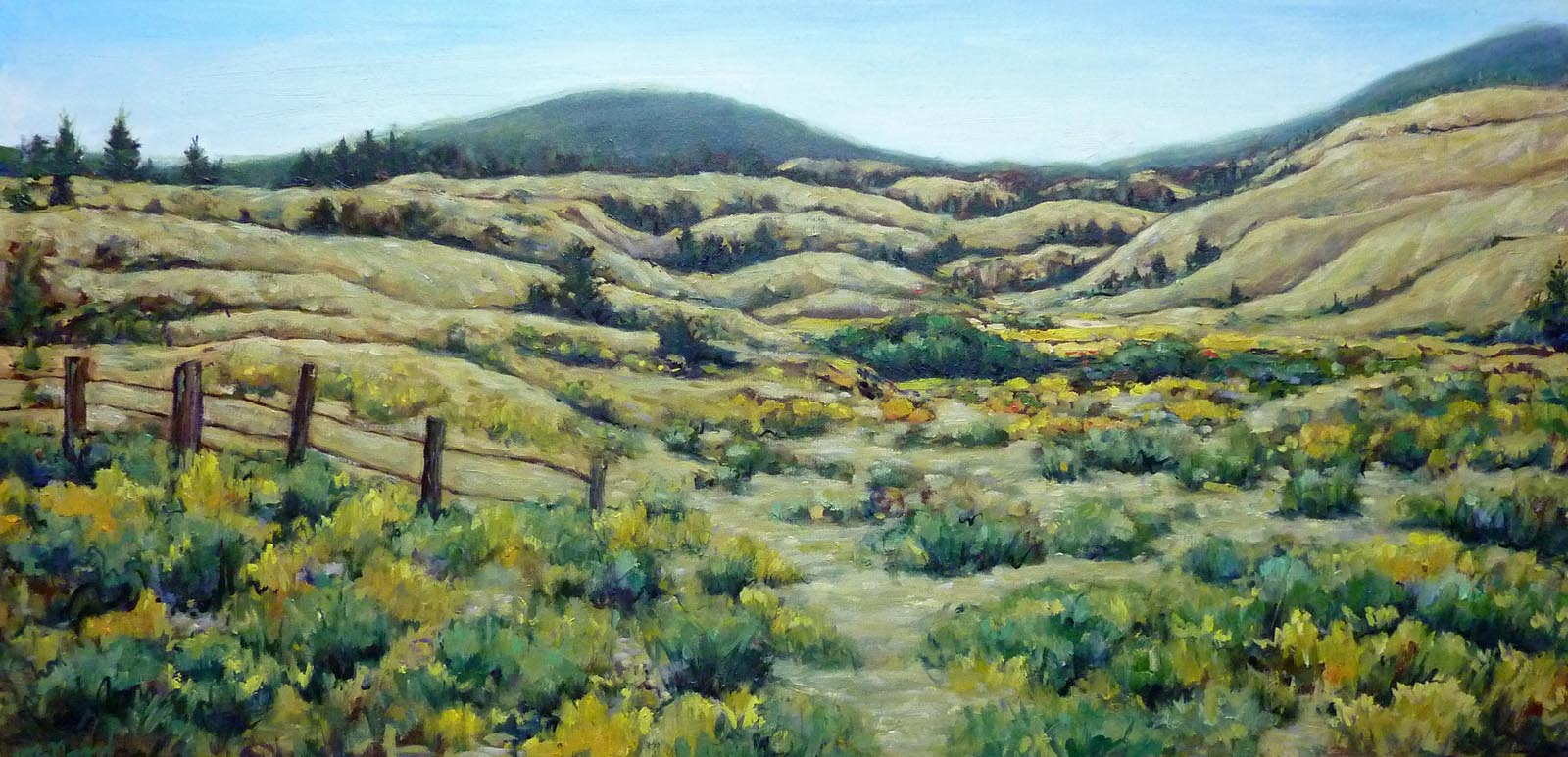 sagebrush and time | Landscapes of British Columbia | Artist painter Kim Pollard | Canada | Pacific Northwest