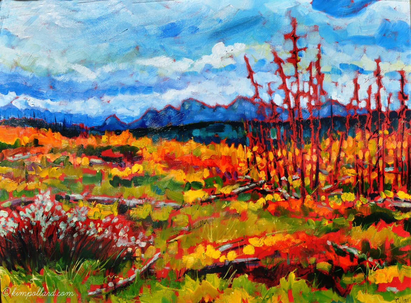 Wild Horse Road | Landscape Paintings | Kim Pollard | Canadian Artist | Alberta | Wild Horse Country