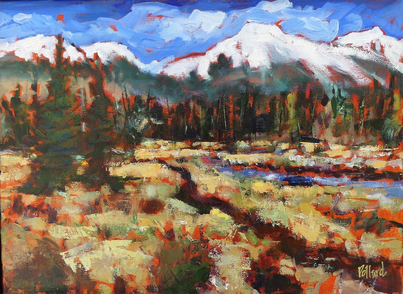 ya ha tinda 2 | landscapes of Western Canada | Artist painter Kim Pollard | Canada | Pacific Northwest