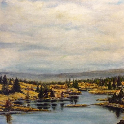 130 mile marsh | Landscapes of British Columbia | BC Artist | Canadian Painter | Kim Pollard | Canada | Cariboo | 100 Mile House
