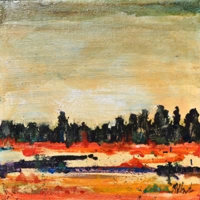 Salt Lick Marsh | Visceral Landscapes | Kim Pollard | Canadian Artist | British Columbia | Abstract Landscape Painting