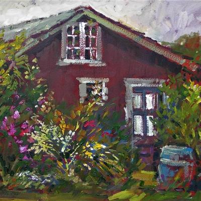 Beach Cottage 1 | Landscape Paintings | Kim Pollard | Canadian | Artist | Landscape Painting | Plein Air