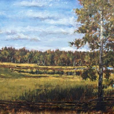 Cariboo Afternoon | Landscape Painting | Kim Pollard | Canadian Artist | British Columbia | Cariboo