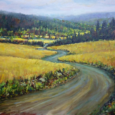 Grasslands | Landscape Paintings | Kim Pollard | Canadian Artist | British Columbia | Douglas Lake Ranch
