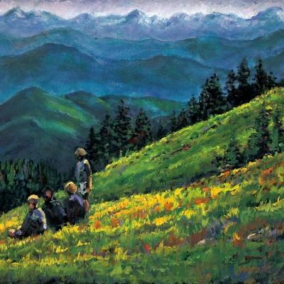 mountaintop of dreams | Landscapes of British Columbia | Artist | Kim Pollard | Canada | Pollard