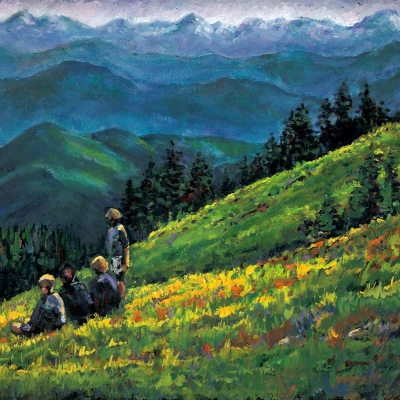 Mountaintop of dreams | Landscape Painting | Kim Pollard | Artist | Painter | Canadian Artist