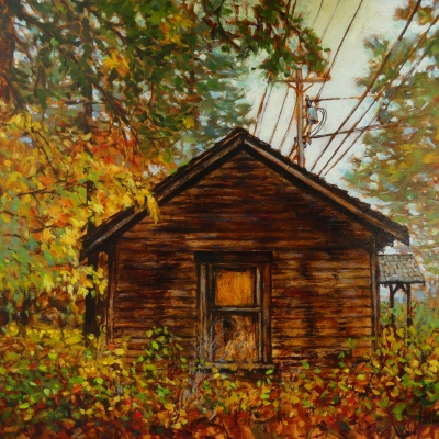 The Old House | Landscape Painting | Pender Island | Artist Painter Kim Pollard | Canada |