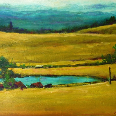 Over The Hill | Landscape Paintings | Kim Pollard | Canadian Artist | British Columbia | Douglas Lake Ranch