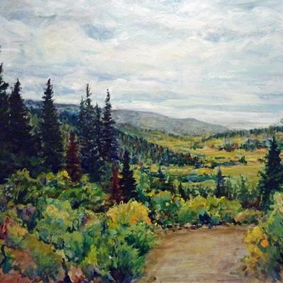 Cariboo Afternoon | Landscape Paintings | Kim Pollard | Canadian Artist | British Columbia | Cariboo