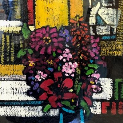 Teal Vase | Modern Still Life | Artist | Painter | Kim Pollard | Modern Art | Canadian Artist