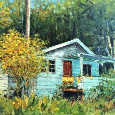 Old House at Roesland | Landscape Paintings | Kim Pollard | Canadian Artist | Pender Island