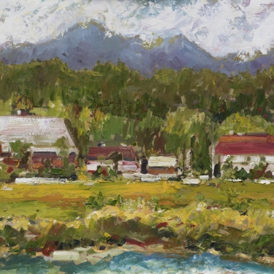 across the nico mekl 2 | Landscapes of British Columbia | Artist painter Kim Pollard | Canada | Pacific Northwest