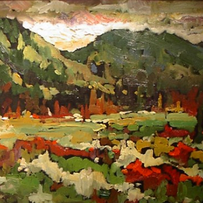 Autumn Meadow | Landscape Paintings | Kim Pollard | Canadian | Artist | British Columbia | Landscape Painting