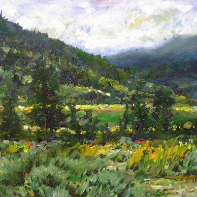 sage meadow | Landscapes of British Columbia | Artist painter Kim Pollard | Canada | Pacific Northwest