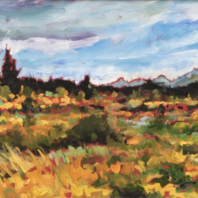 wild horse country | landscapes of Western Canada | Artist painter Kim Pollard | Canada | Pacific Northwest