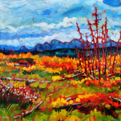 wild horse road | landscapes of Western Canada | Artist painter Kim Pollard | Canada | Pacific Northwest