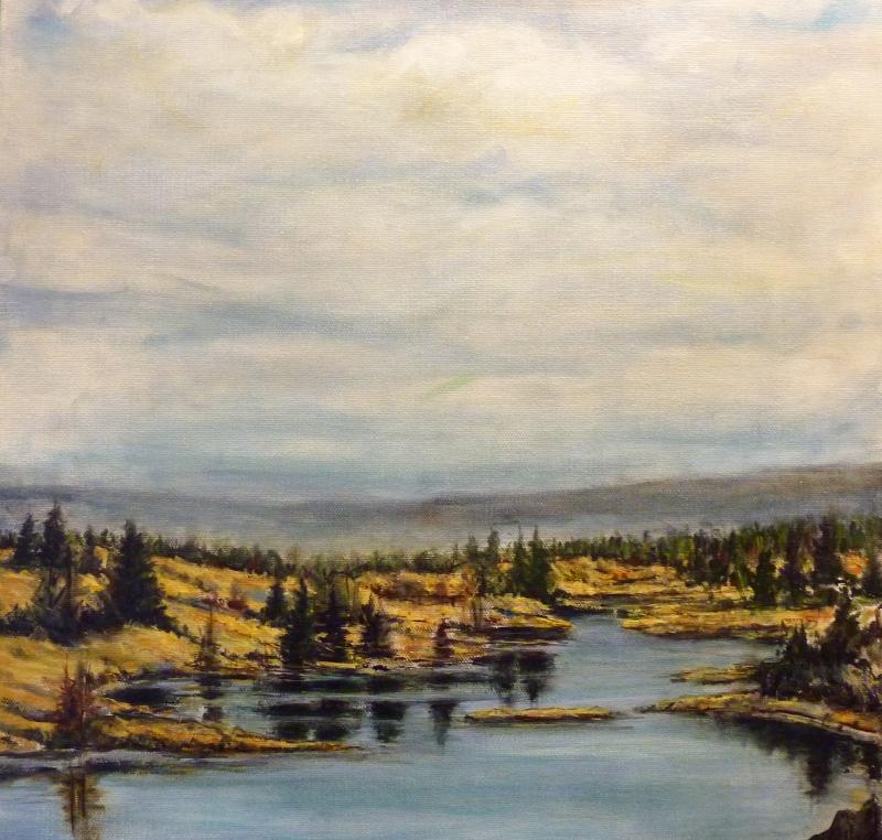 130 Mile Marsh | Landscape Paintings | Kim Pollard | Canadian Artist | British Columbia | Cariboo