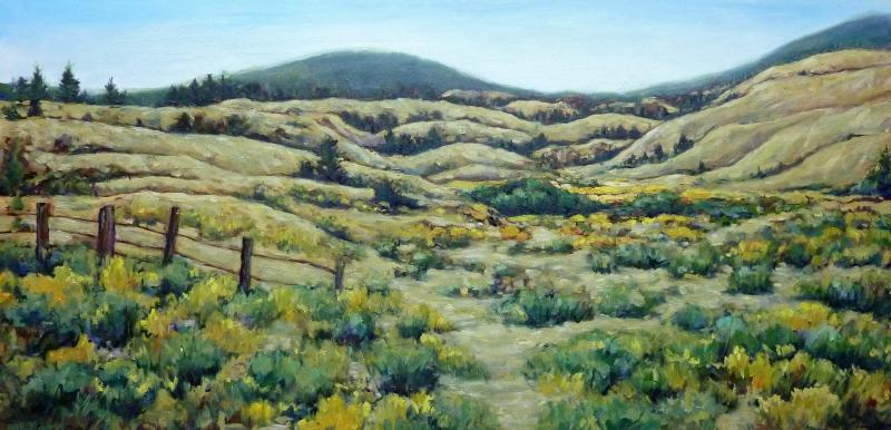 Sagebrush and Time | Landscape Paintings | Kim Pollard | Canadian Artist | British Columbia | Douglas Lake Ranch