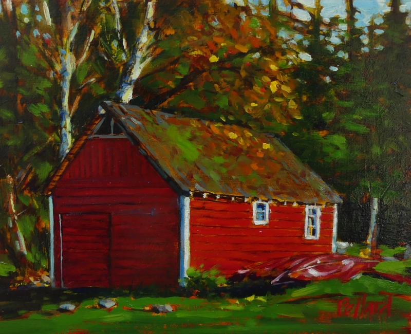 The Red Shed | Landscape Paintings | Kim Pollard | Canadian Artist | Pender Island | Hope Bay``