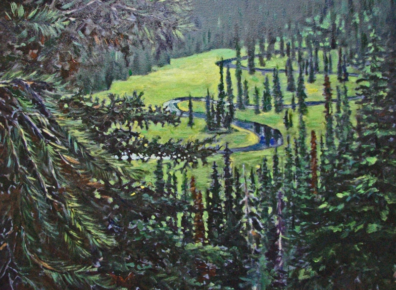 baker lake | Landscapes of British Columbia | Artist painter Kim Pollard | Canada | Pacific Northwest