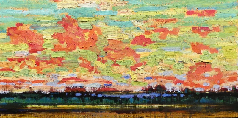 Evening sky | Archives | Artist painter Kim Pollard | Canada | Pacific Northwest