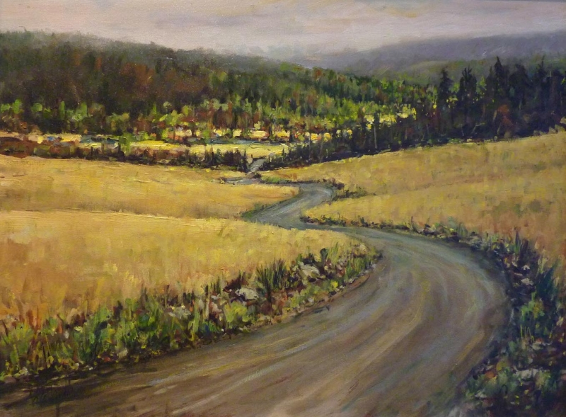 grasslands | Landscapes of British Columbia | Artist painter Kim Pollard | Canada | Pacific Northwest