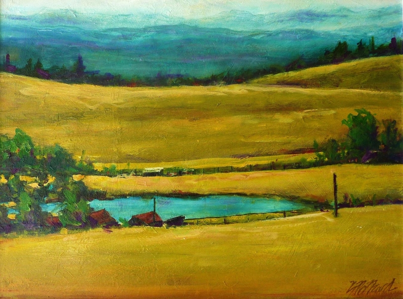 over the hill | Landscapes of British Columbia | Artist painter Kim Pollard | Canada | Pacific Northwest
