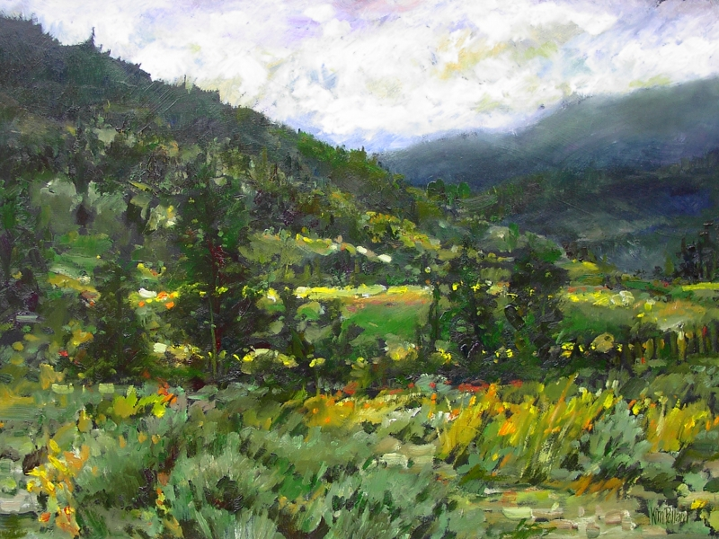 Sage Meadow | Landscape Paintings | Kim Pollard | Canadian | Artist | British Columbia | Ashcroft | Landscape Painting