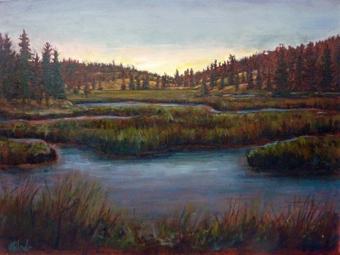 Aubades | Landscape Painting | Kim Pollard | Canadian Artist | British Columbia | Aspen Grove