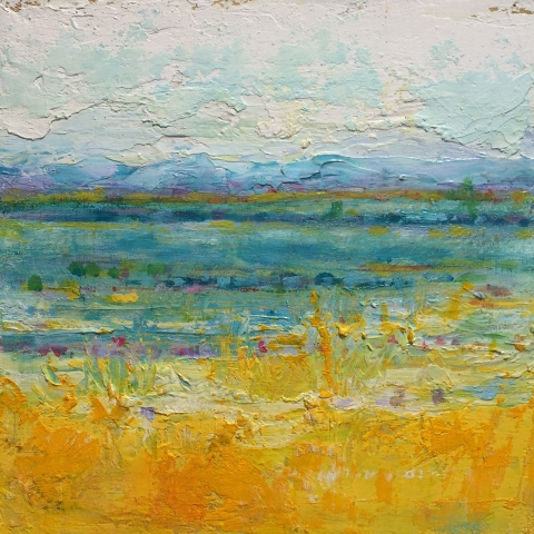 In the Distance | Dreamscrapes | Artist | Kim Pollard | Canada | Abstract Landscape | Pollard