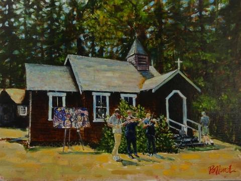 Music And Art, Pender Island, BC  | Landscape Paintings | Kim Pollard | Canadian Artist | Pender Island | British Columbia