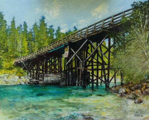 The Bridge | Landscape Paintings | Kim Pollard | Canadian Artist | Pender Island | British Columbia