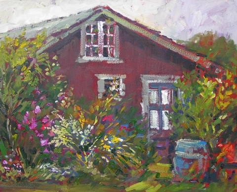 beach cottage 1 | Archives | Artist painter Kim Pollard | Canada | Pacific Northwest