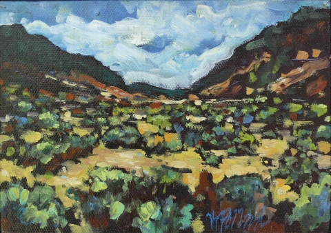 cactus country | Landscapes of British Columbia | Artist painter Kim Pollard | Canada | Pacific Northwest