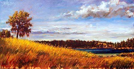 One August Day | Landscapes of Western Canada | Artist painter Kim Pollard | Canada | Pender Island, BC