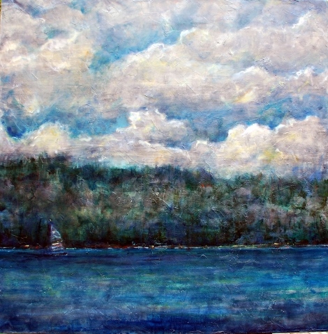 Island Times | Archives | Artist painter Kim Pollard | Canada | Pender Island, BC