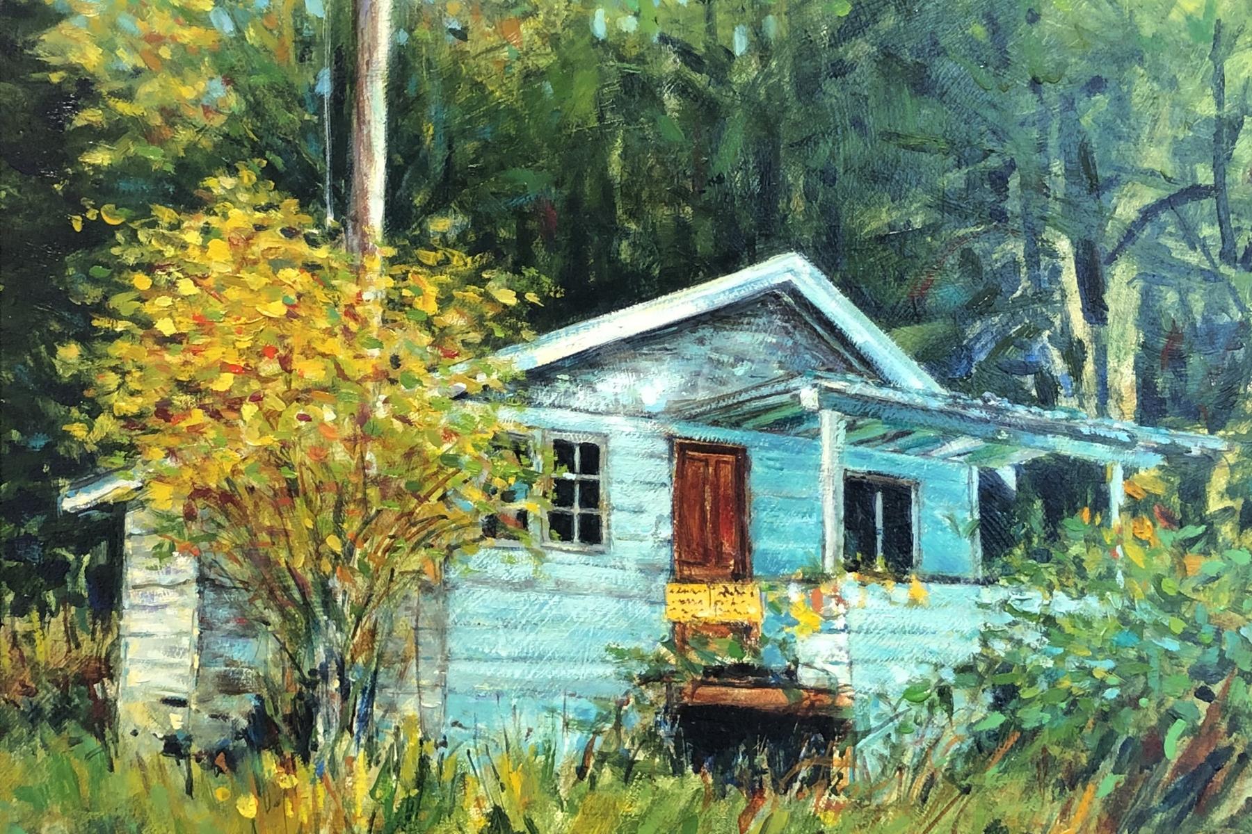 Landscape Painting | Pender Island | Artist Painter Kim Pollard | Canada | Roesland